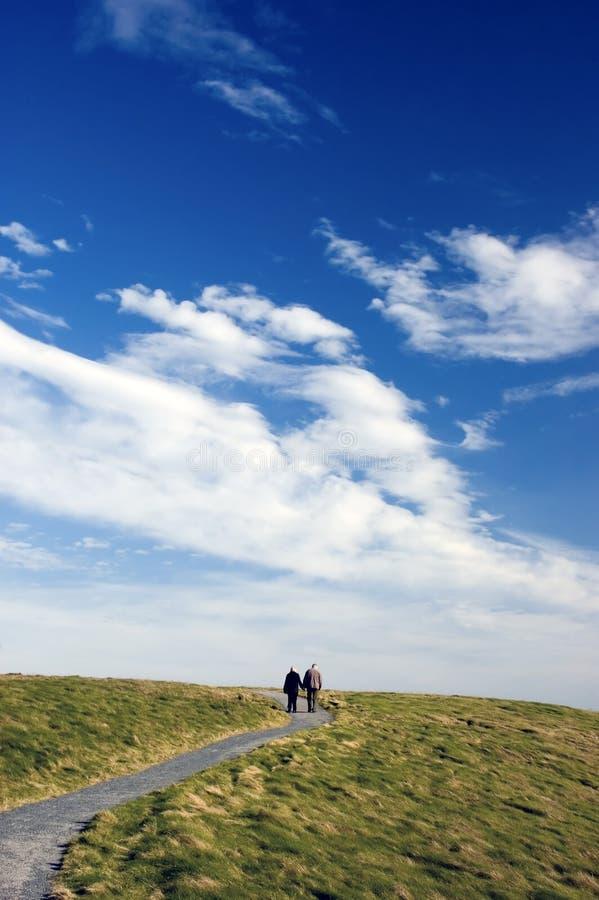 Passaggio pedonale a cielo fotografie stock libere da diritti