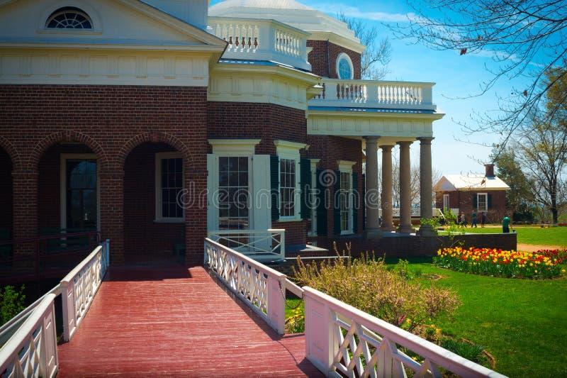 Passaggio pedonale del giardino di Monticello immagine stock