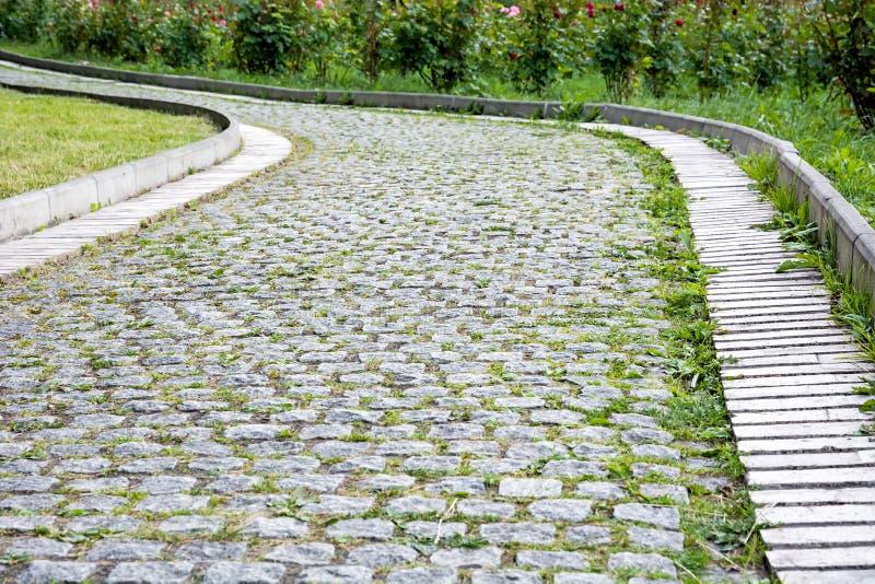 Download Passaggio Pedonale Del Parco Delle Pietre Per Lastricati Immagine Stock - Immagine di rose, cespugli: 56883841
