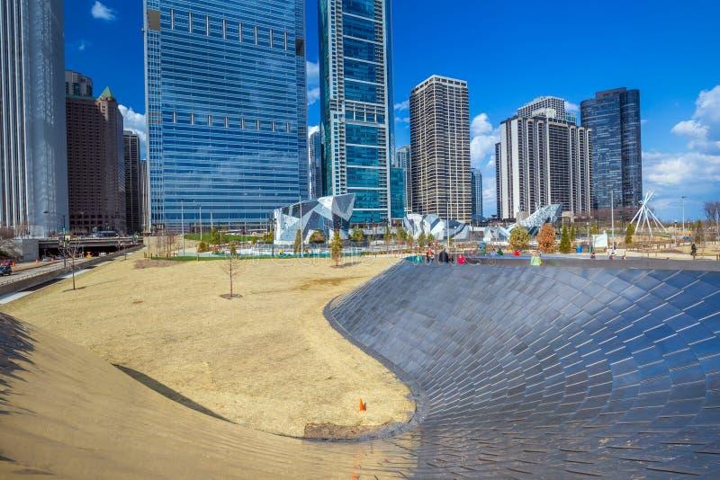 Passaggio pedonale pubblico di BP nel parco di millennio immagine stock libera da diritti
