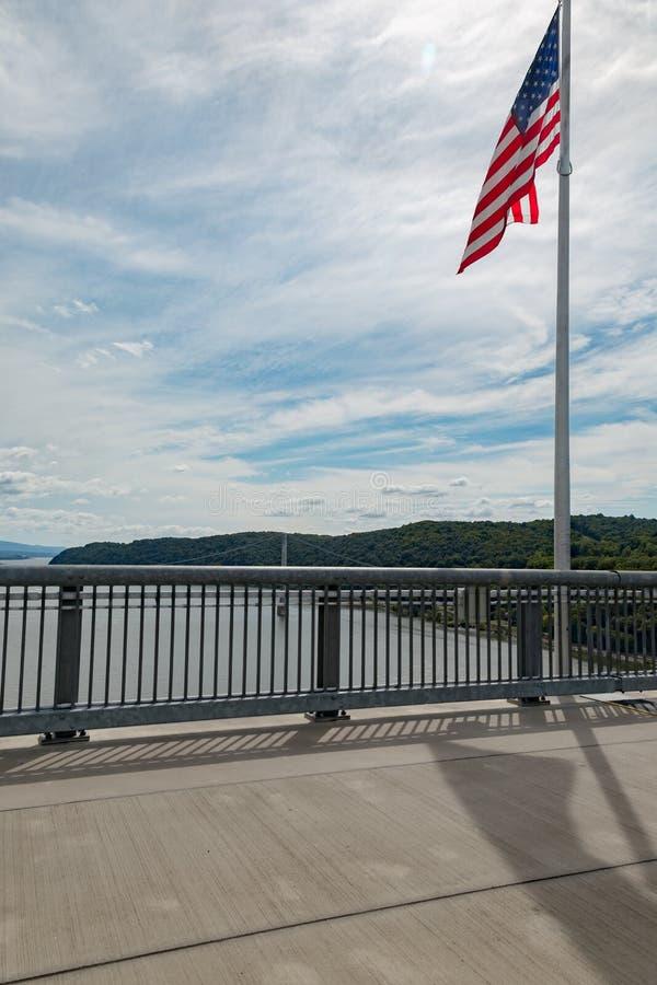 Passaggio pedonale sopra il Hudson fotografie stock
