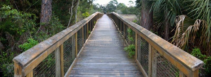 Passaggio pedonale sopra regione paludosa in Florida fotografie stock