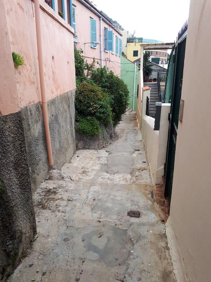 Passaggio rosa e variopinto a Gibilterra immagine stock libera da diritti