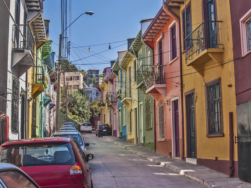 Passaggio variopinto di Valparaiso immagini stock