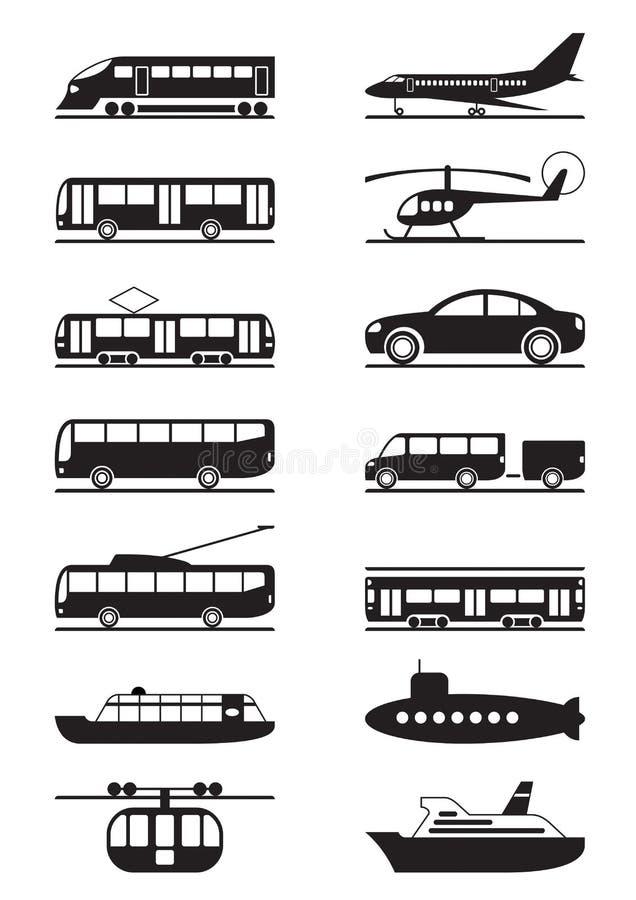 Passagier & openbaar vervoer royalty-vrije illustratie