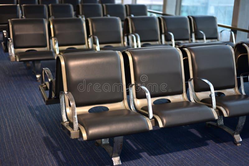 Passagiere, die Anordnungsvorratphotographie sitzen stockfoto