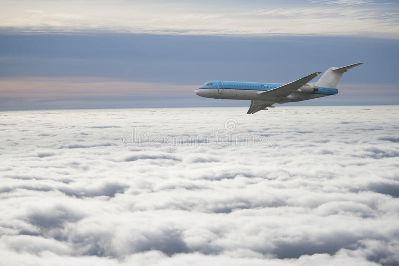 Passagierflugzeug stockfoto