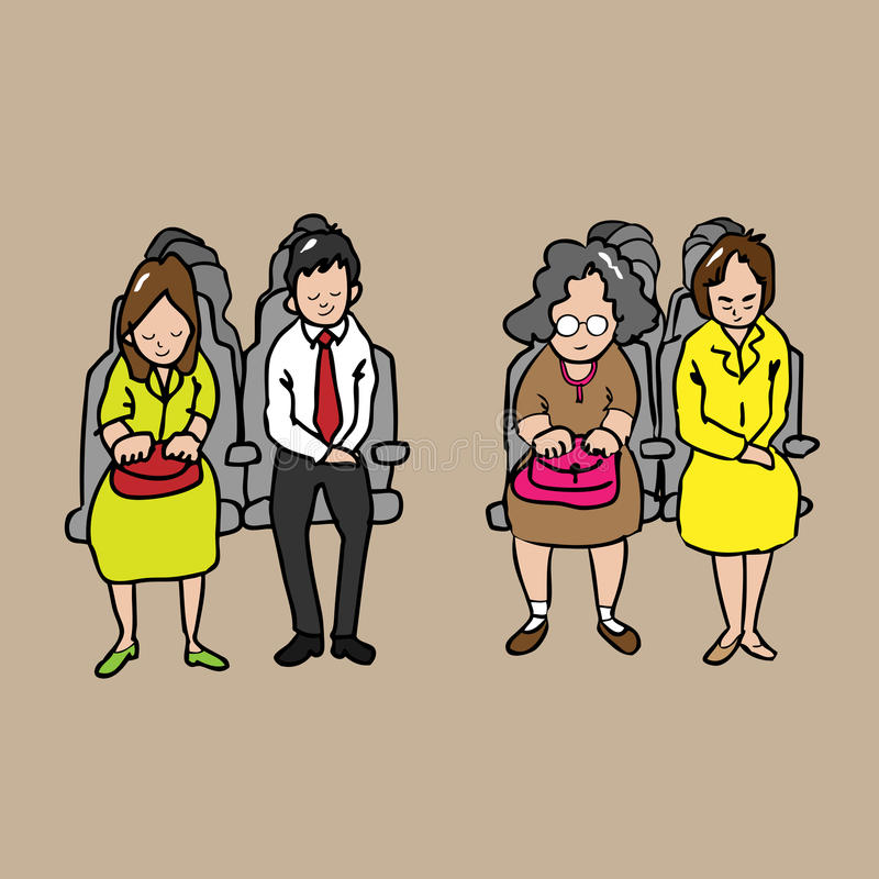 passagiers vector illustratie