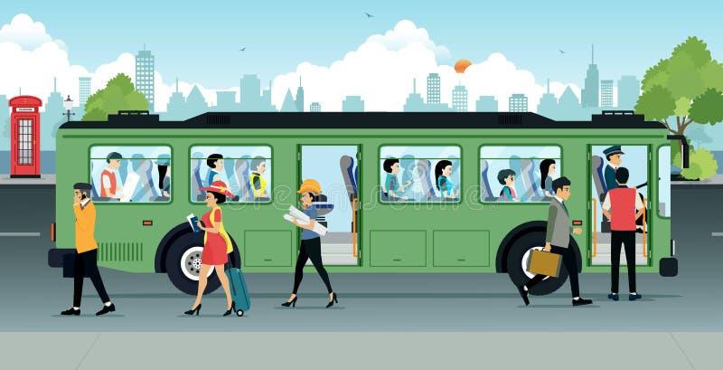 Passagiersbus vector illustratie