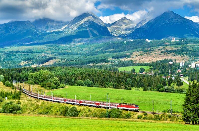 Passagierstrein in de Hoge Tatra-Bergen, Slowakije royalty-vrije stock fotografie