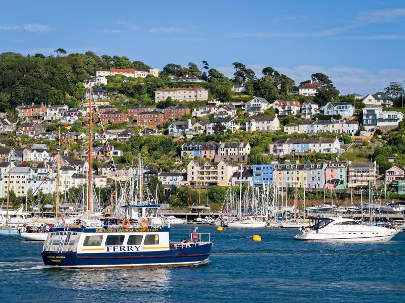 Passagiersveerboot Dartmouth Devon England stock afbeelding