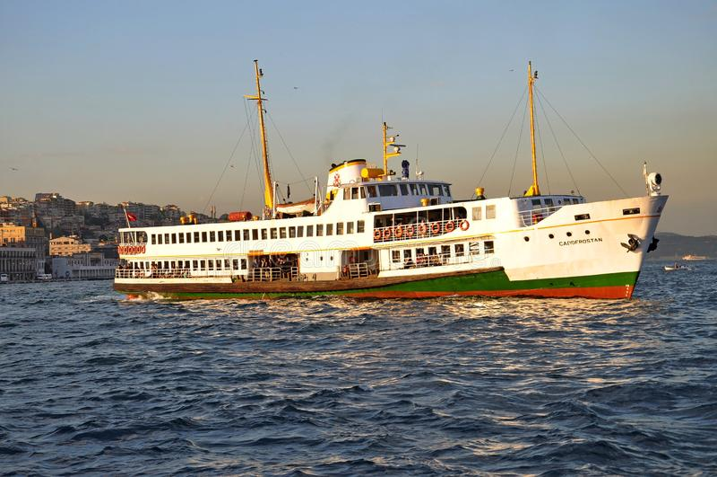 Passagiersveerboot in Istanboel royalty-vrije stock foto