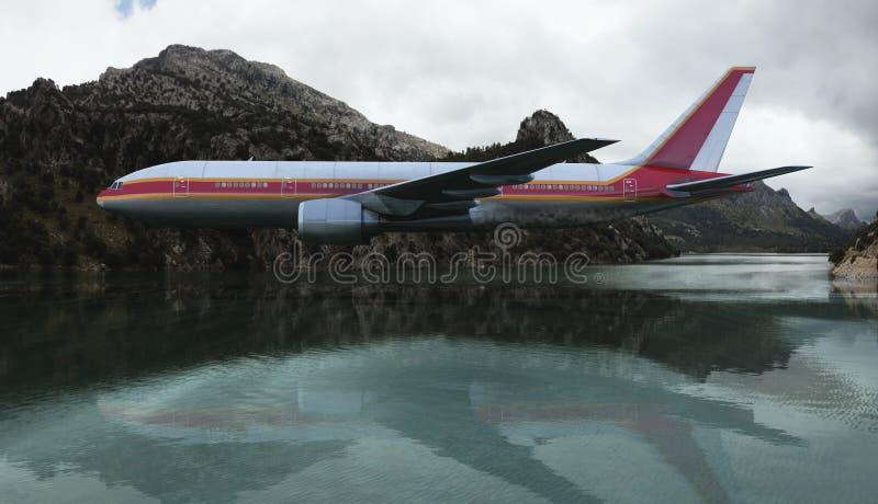Passagiersvliegtuig stock foto