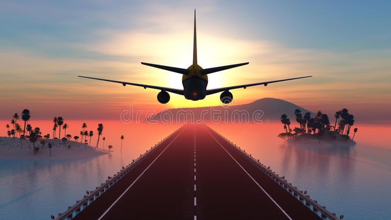 Passagiersvliegtuig stock illustratie