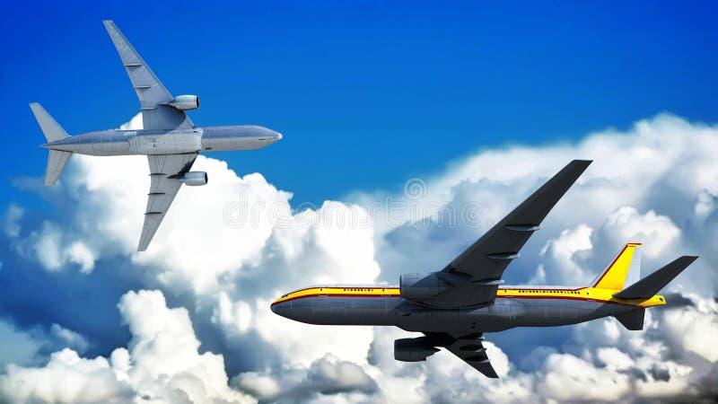 Passagiersvliegtuig royalty-vrije illustratie
