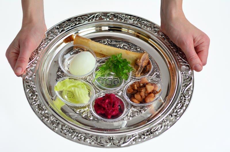 Passahfest Seder Platte lizenzfreies stockfoto