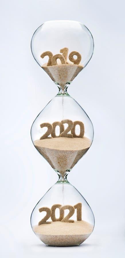 Passando no ano novo 2020, 2021 fotografia de stock royalty free
