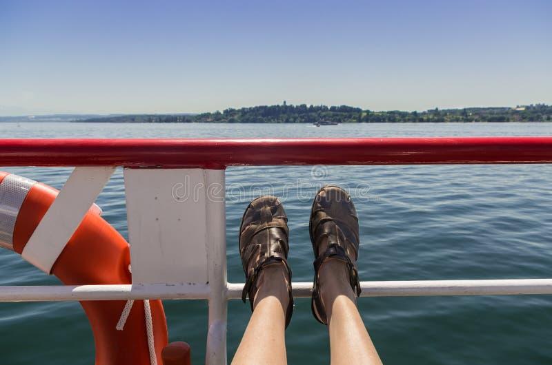 Passanger de bateau image libre de droits