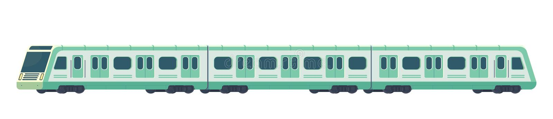 Passanger modernt elektriskt snabbt drev Järnväg gångtunnel- eller tunnelbanatransport Underjordisk drevvektorillustration vektor illustrationer