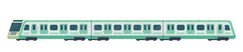 Passanger nowożytny elektryczny szybkościowy pociąg Kolejowy metra lub metra transport Metro taborowa Wektorowa ilustracja ilustracja wektor