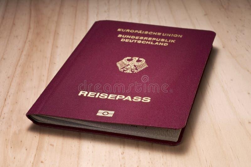Passaporte alemão imagens de stock