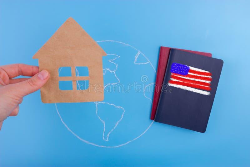 passaporte americano do cidadão ilustração royalty free