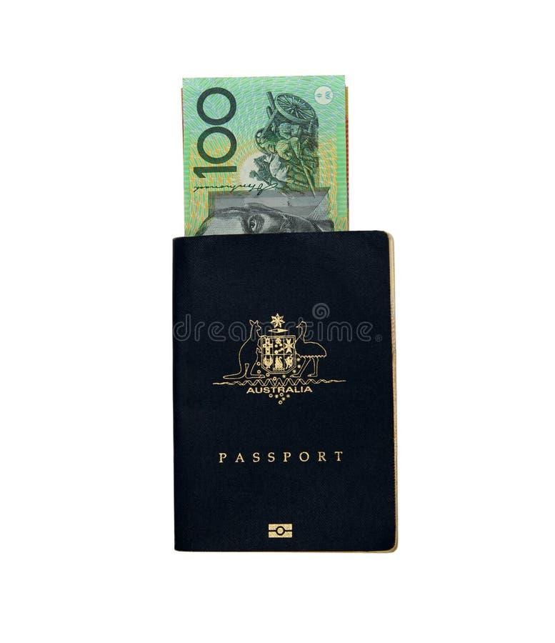 Passaporte australiano foto de stock