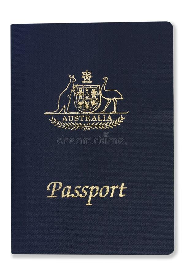 Passaporte australiano (com trajeto) fotos de stock