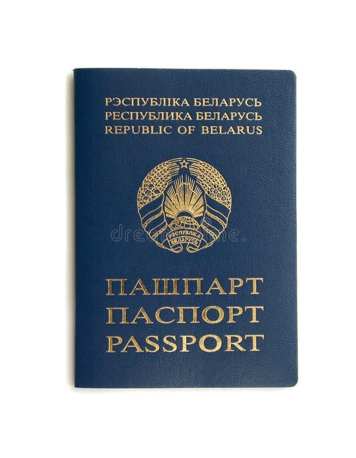 Passaporte bielorrusso foto de stock royalty free