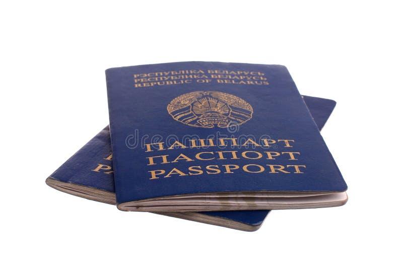 Passaporte bielorrusso fotografia de stock