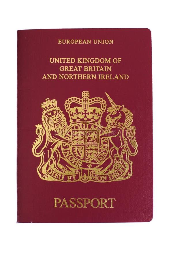 Passaporte britânico imagem de stock