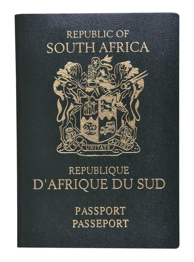Passaporte de África do Sul. foto de stock