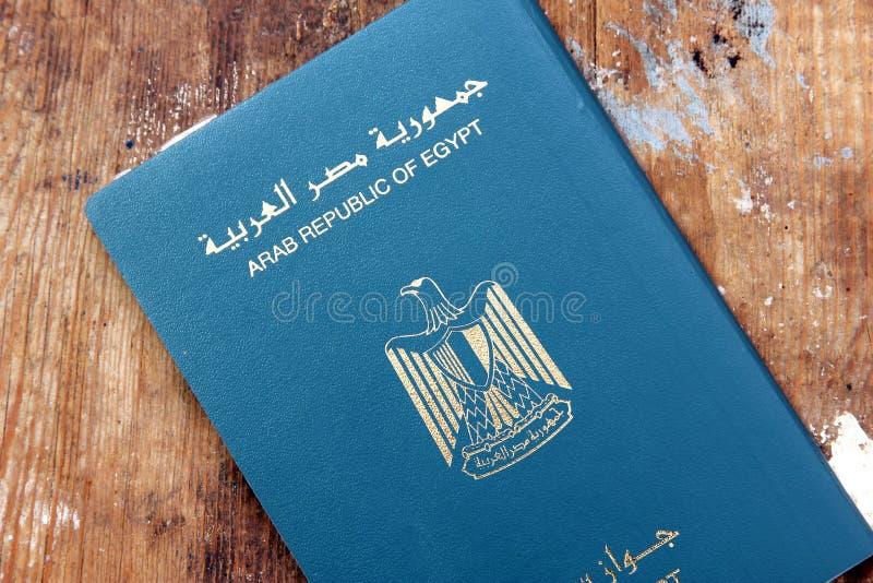 Passaporte de Egito fotografia de stock royalty free