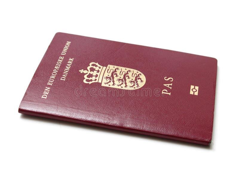 Passaporte dinamarquês fotos de stock