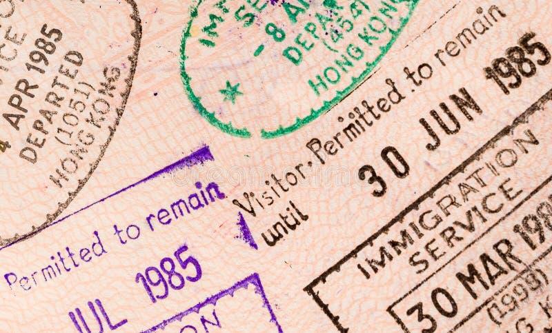 Passaporte do curso do mundo foto de stock