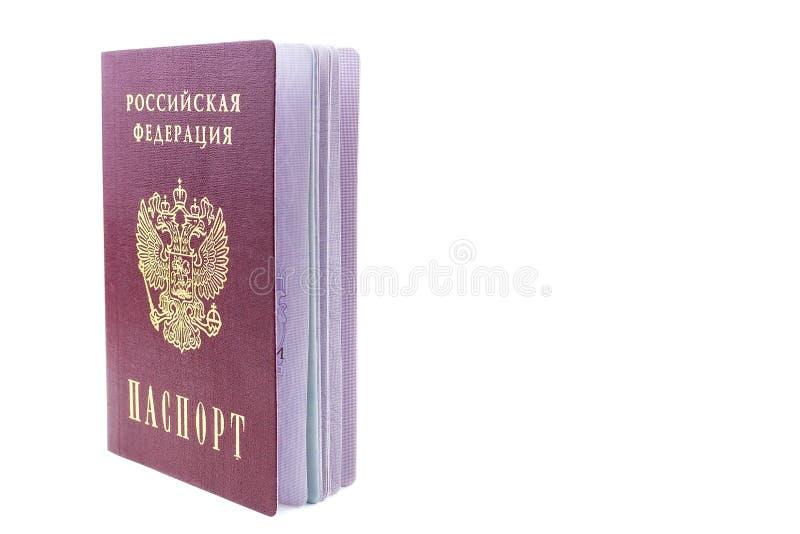 Passaporte do russo no fundo branco fotos de stock