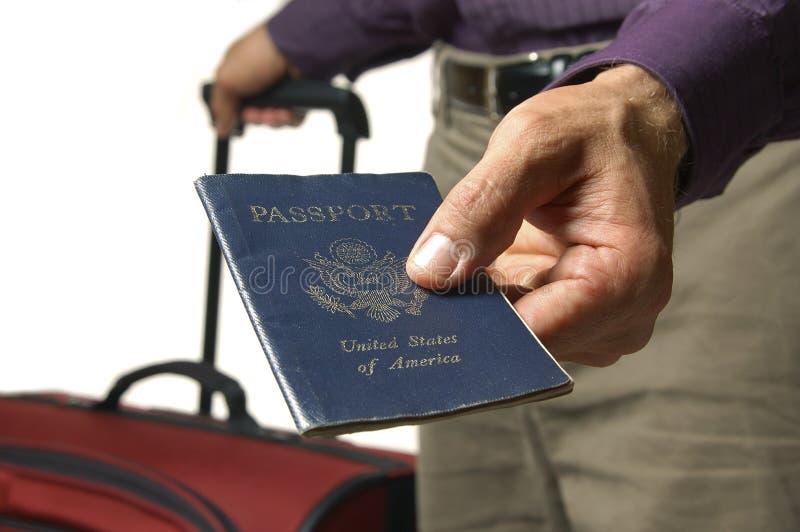 Passaporte dos E.U. para o curso fotografia de stock royalty free