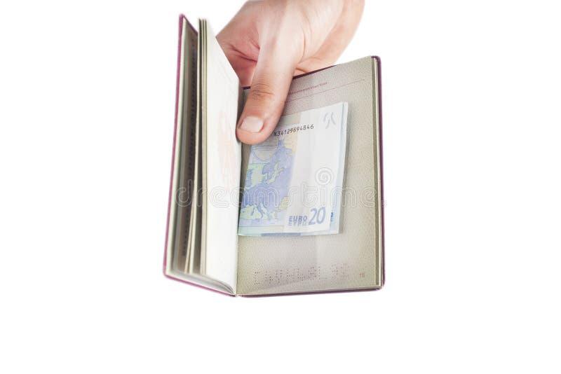 Passaporte e dinheiro fotografia de stock royalty free