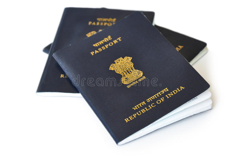 Passaporte indiano foto de stock