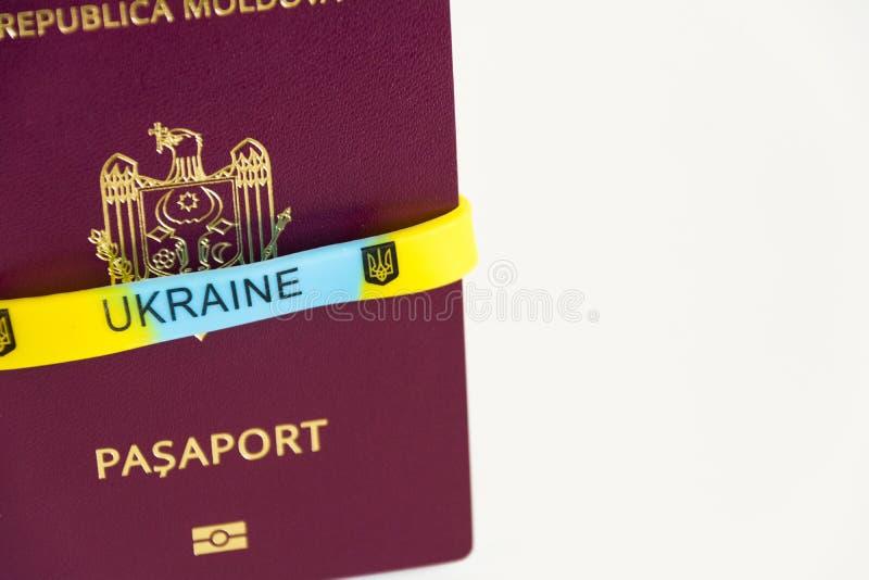 Passaporte moldavo Passaporte da DM imagem de stock royalty free