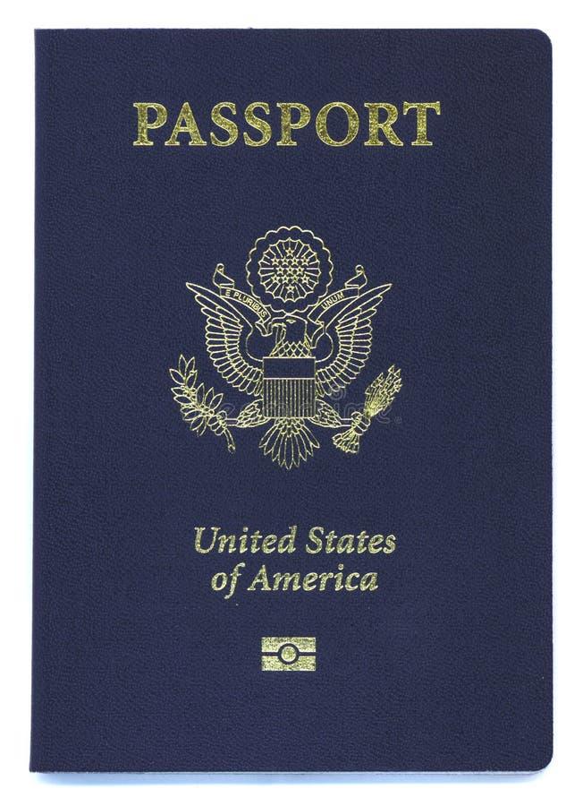 Passaporte novo dos E.U. com microplaqueta da identificação imagem de stock