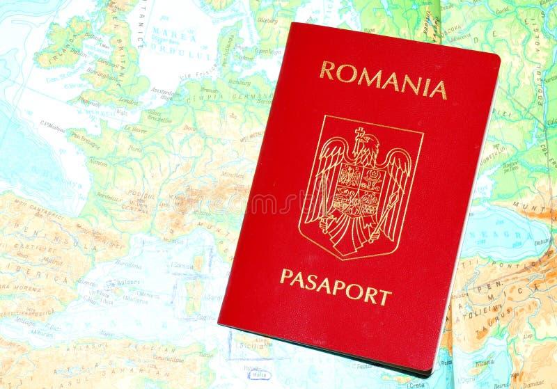 Passaporte romeno imagem de stock