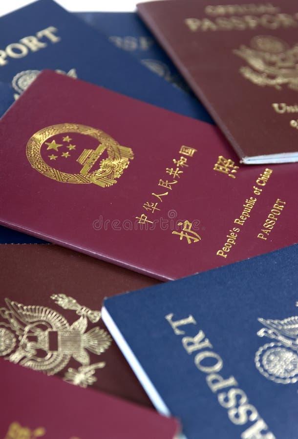 Passaportes fotografia de stock