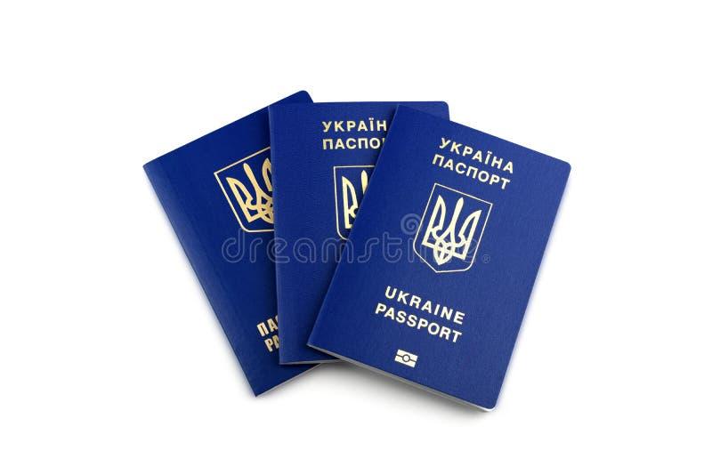 Passaporti biometrici ucraini fotografia stock
