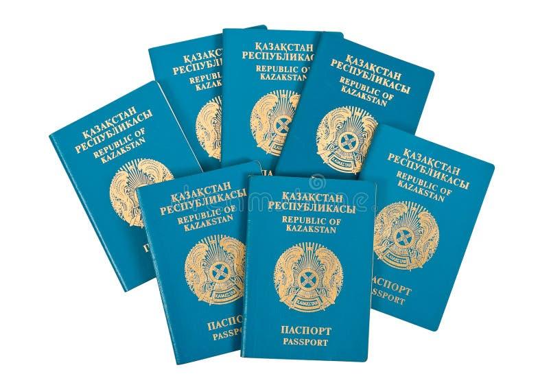 Passaporti del Kazakhstan fotografia stock libera da diritti