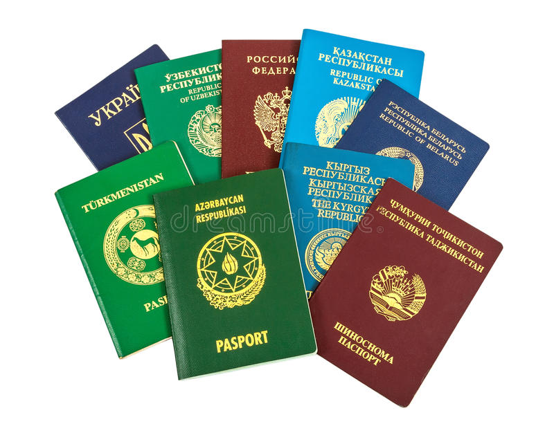 Passaporti stranieri differenti immagini stock libere da diritti