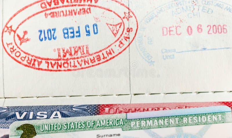 Passaporti, visto fotografia stock libera da diritti