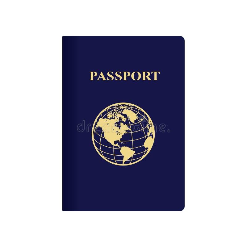 Passaporto blu internazionale illustrazione di stock