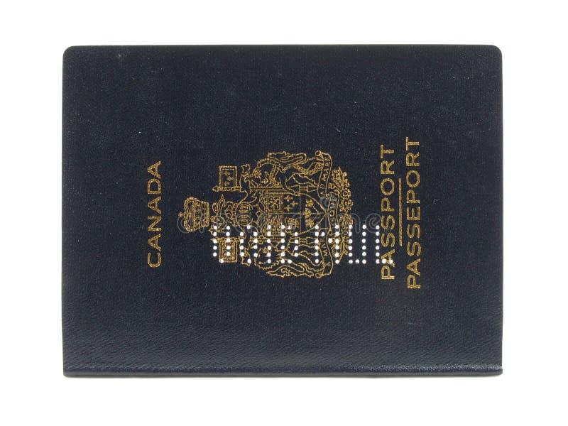 Passaporto canadese vuoto fotografia stock