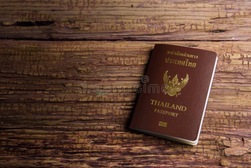 Passaporto che un documento ufficiale ha pubblicato da un governo, c della Tailandia immagini stock libere da diritti
